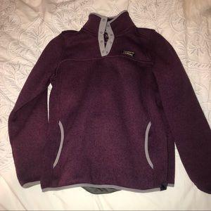 LL Bean Sweater Fleece Pullover